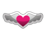 Game heart with wings isolated icon Stock Images