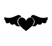 Game heart with wings isolated icon Stock Image