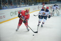 The game between hockey clubs  Royalty Free Stock Photos