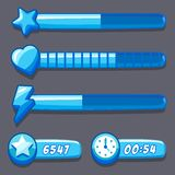 Game ice energy time progress bar Royalty Free Stock Photos