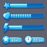 Game ice energy time progress bar Royalty Free Stock Photos