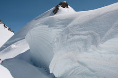Game of ice on monte rosa glacier Stock Images