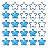 Game ice web rating stars set on white. Game ice web rating stars set ui Royalty Free Stock Image