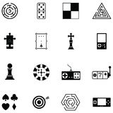 Game icon set. The game of icon set royalty free illustration
