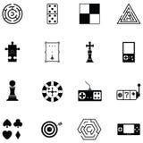 Game icon set. The game of icon set Stock Image