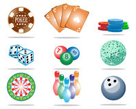 Game Icon Set Stock Photos