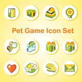 Game icon set with 12 objects in the same style Royalty Free Stock Photos