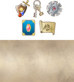 Game icon set Royalty Free Stock Image