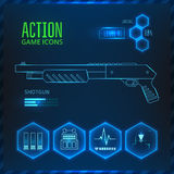Game icon weapon Stock Photography