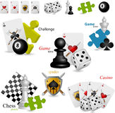 Game icons. This is vector game icons set royalty free illustration