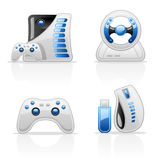 Game icons Royalty Free Stock Images