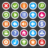 Game icons. Round game icons set. Check my profile for more game graphics Royalty Free Stock Photos
