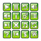 Game icons Stock Photography