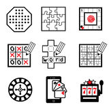 Game icons part 2 Stock Image