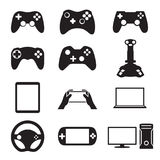 Game icons set Stock Image