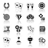 Game icons set Royalty Free Stock Photography