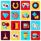 Game icons set Royalty Free Stock Photo