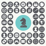 Game icons set. Stock Image