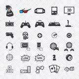 Game icons set. illustration Stock Photos