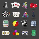Game icons set Royalty Free Stock Images