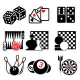 Game icons Royalty Free Stock Photography