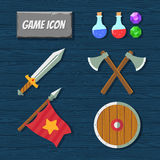 Game icons Royalty Free Stock Photos