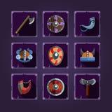Game icons. Viking emblem. Royalty Free Stock Photos