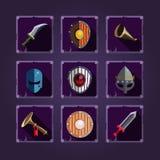 Game icons. Viking emblem. Stock Images