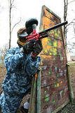 Game In A Paintball Stock Photos