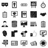 Game industry icons set, simple style. Game industry icons set. Simple set of 25 game industry vector icons for web isolated on white background Royalty Free Stock Photography