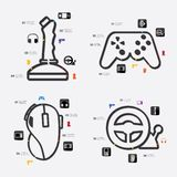 Game infographic Royalty Free Stock Image