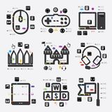 Game infographic Royalty Free Stock Images