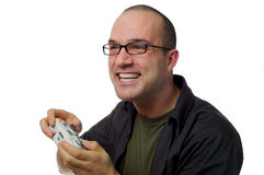 This game is intense!. The average gamer is enjoying an intense game Royalty Free Stock Photos