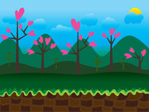 Game Interface Background Morning Stock Photos