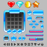 Game interface buttons and items ui vector set Royalty Free Stock Photography
