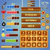 Game interface design Royalty Free Stock Photos
