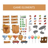 Game interface elements, buttons, icons Stock Photo