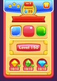 Game interface elements. Buttons, progress bar, icons and fields for game Stock Photo