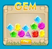 Game interface. Gems icon collection stock illustration