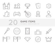 Game Items Stock Images