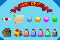 Game items set Royalty Free Stock Photos