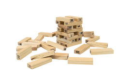 Game Jenga Stock Photo