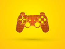 Game Joystick. Designed using hexagon pattern graphic vector Royalty Free Stock Photos
