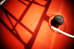 Basketball. Just concluded a fierce street basketball royalty free stock photo