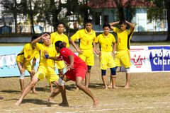 Game of Kabaddi Stock Photos