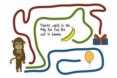 Game for kids with a monkey Royalty Free Stock Photography