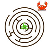 Game labyrinth find a way crab vector Royalty Free Stock Photos