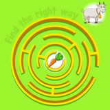 Game labyrinth find a way goat vector. Illustration Stock Photography