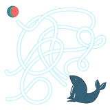 Game labyrinth find a way seal vector illustration Stock Image