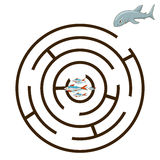 Game labyrinth find a way shark vector Stock Photo